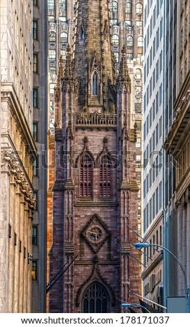 Trinity Church, New York City. USA. - stock photo