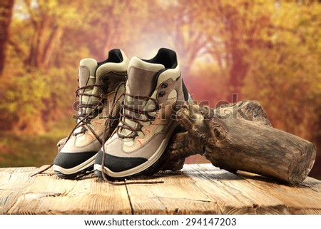 trip and shoes  - stock photo