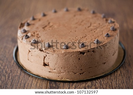 Triple chocolate cake - stock photo
