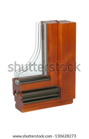 triple insulating glass window - stock photo