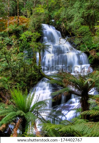 Triplet falls, Otway National Park, Australia - stock photo