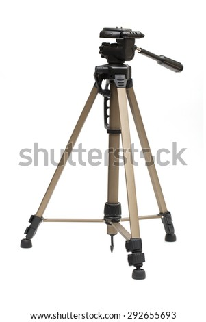 tripod stand on the white background  - stock photo