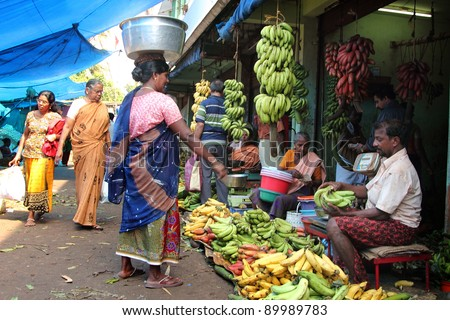 Indian Street Market Stock Photos, Images, & Pictures ...Kerala Vegetable Market