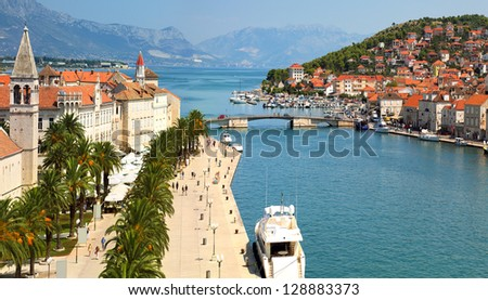 Trogir Croatia,popular touristic destination - stock photo