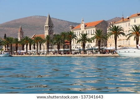 Trogir, Croatia - waterfront - stock photo