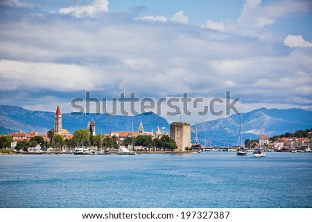 Trogir is a historic town and harbour on the Adriatic coast in Croatia - stock photo