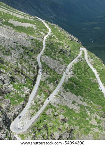 troll way in Norway - stock photo