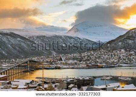 Tromso city - stock photo