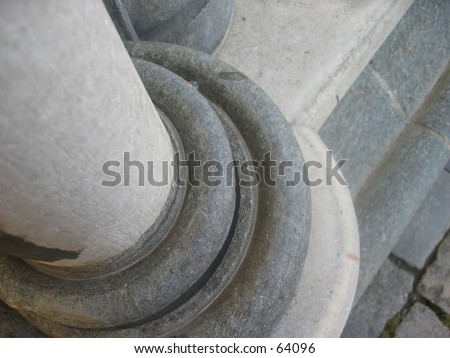 Trondheim Cathedral pillar - stock photo