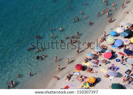 Tropea Beach, South Italy - stock photo