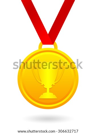 Trophy cup golden medal  - stock photo