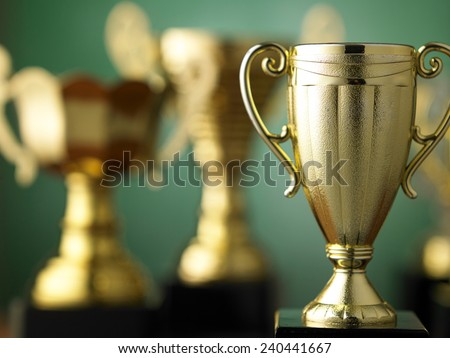 trophy for champion - stock photo