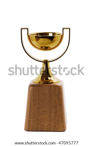 Trophy isolated on white background - stock photo
