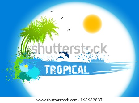Tropical abstract background - stock photo