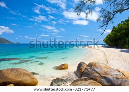tropical beach - Australia - stock photo
