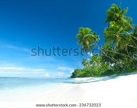 Tropical beach destination. - stock photo