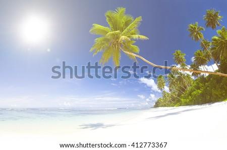 Tropical Beach Destination Concept - stock photo