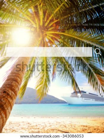 Tropical beach destination Scenic Nature Concept - stock photo