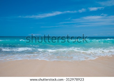 Tropical beach in Bali. The beach called Dreamland. - stock photo