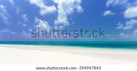 Tropical beach in Cayo Largo island - stock photo