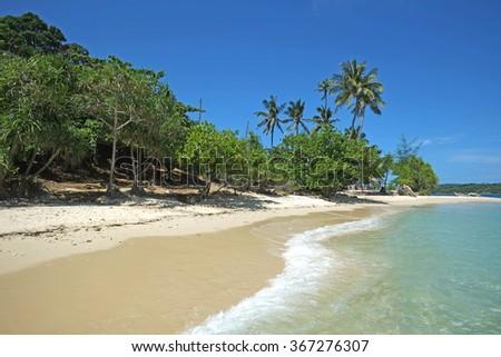 Tropical beach in Koh Bon, Phuket, Thailand - stock photo