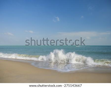 Tropical beach in Koh Samui island, Thailand  - stock photo