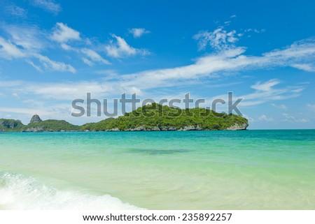 Tropical beach, Koh Samui, Thailand - stock photo