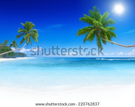 Tropical Beach Paradise - stock photo