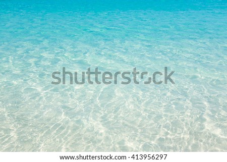 Tropical beach water background - stock photo