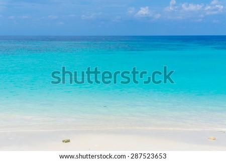 Tropical beach with blue Sky and sea. Scene Beach at Lipe Satun, Thailand - stock photo
