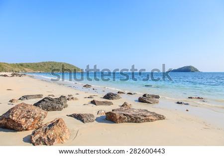 Tropical Beautiful Beach Chon Buri Thailand - stock photo