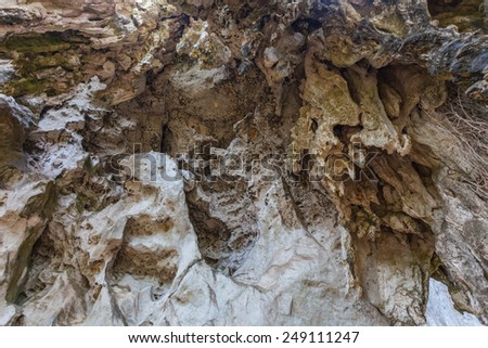 Tropical cave - stock photo
