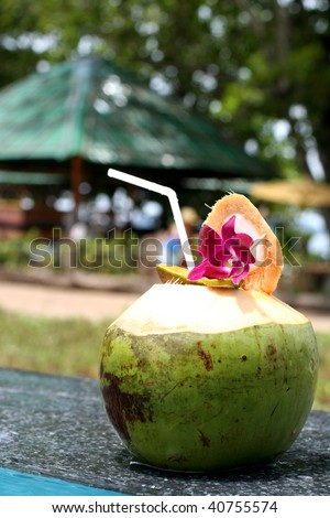 Tropical coctail - stock photo