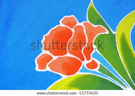 Tropical Flower useful as a background pattern - stock photo
