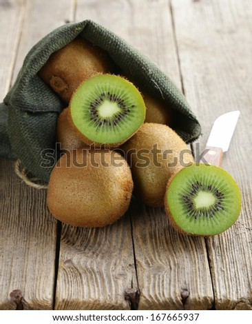 tropical fruit fresh sweet ripe kiwi   - stock photo