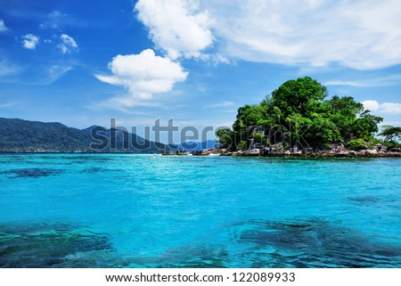 Tropical Island, South of Thailand - stock photo