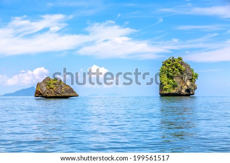 Tropical islands of the Andaman Sea in Thailand - stock photo