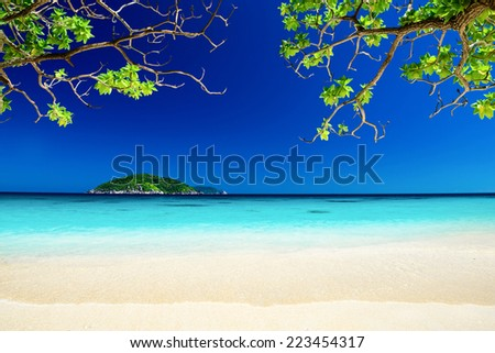 Tropical landscape of Similan islands, Thailand - stock photo