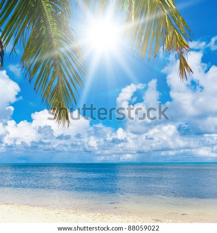 Tropical Landscape Serenity and Peace - stock photo