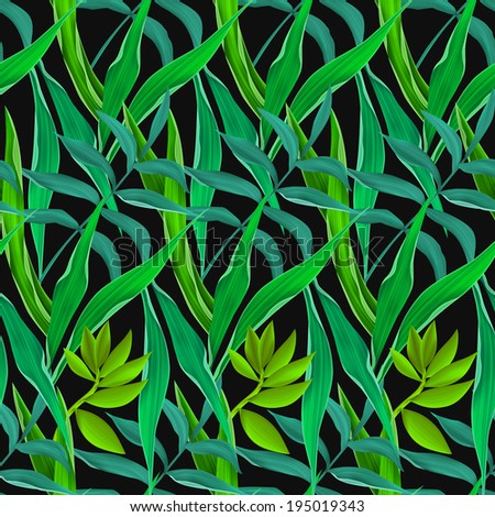 Tropical leaves. seamless fashion pattern - stock photo