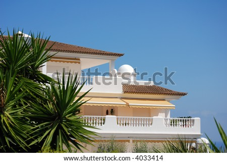 tropical luxury home - stock photo