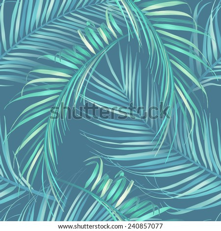 Tropical  palm leaves. stylish fashion floral pattern, in Hawaiian style. Background. - stock photo