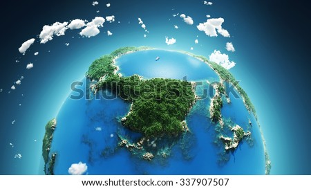 tropical paradise, aerial view - stock photo