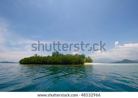 tropical paradise island - stock photo