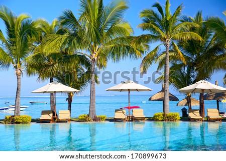 Tropical resort - stock photo