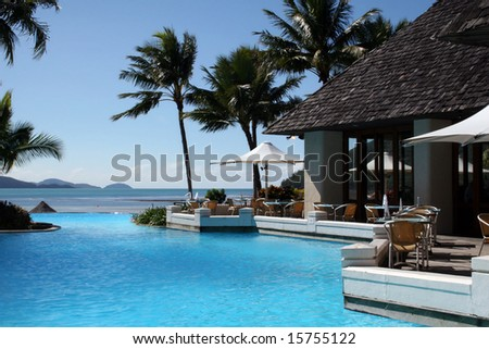 Tropical Resort in Hamilton Island, Great Barrier Reef, Australia - stock photo