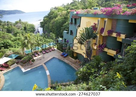 Tropical resort in Phuket, Thailand. - stock photo