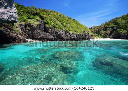 tropical sea Phi Phi island. Thailand - stock photo
