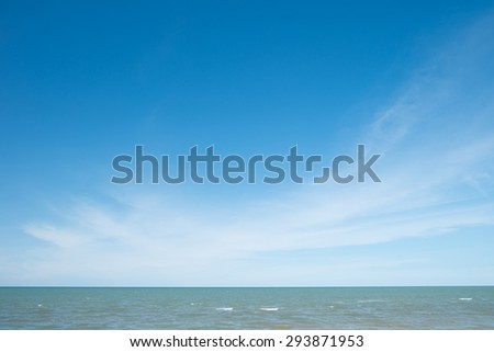 Tropical Sea with Waves, Horizon and Blue Sky - stock photo
