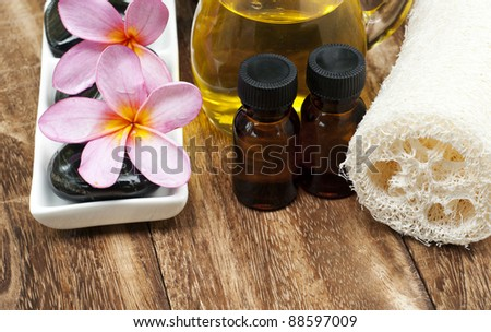 tropical spa - stock photo